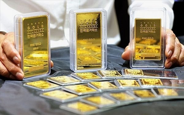 Đầu tuần, giá vàng SJC đứng ở mốc 57 triệu đồng/lượng