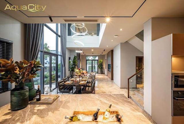 Không gian sống đẳng cấp của căn biệt thự song lập thuộc Đô thị đảo Phượng Hoàng – Aqua City