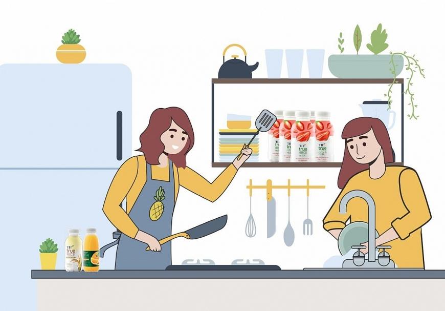 Sáng - trưa - chiều - tối: Bật chế độ Rửa bát