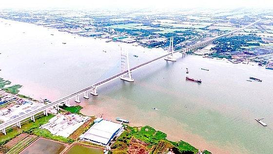 Cầu Vàm Cống, một trong những công trình quan trọng góp phần phát triển liên kết vùng tại ĐBSCL.