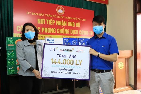 Tập đoàn TH tặng hơn 200.000 ly sữa tươi và đồ uống, chung tay đẩy lùi Covid-19 tại Hải Dương, Quảng Ninh