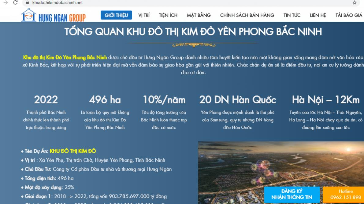 Bắc Ninh: Chưa được Sở Xây dựng cấp phép, dự án Khu đô thị Kim Đô đã rao bán rầm rộ