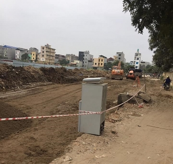 Bắc Ninh: Chưa được cấp giấy phép xây dựng, dự án chợ Phương Cầu đã triển khai thi công hạ tầng
