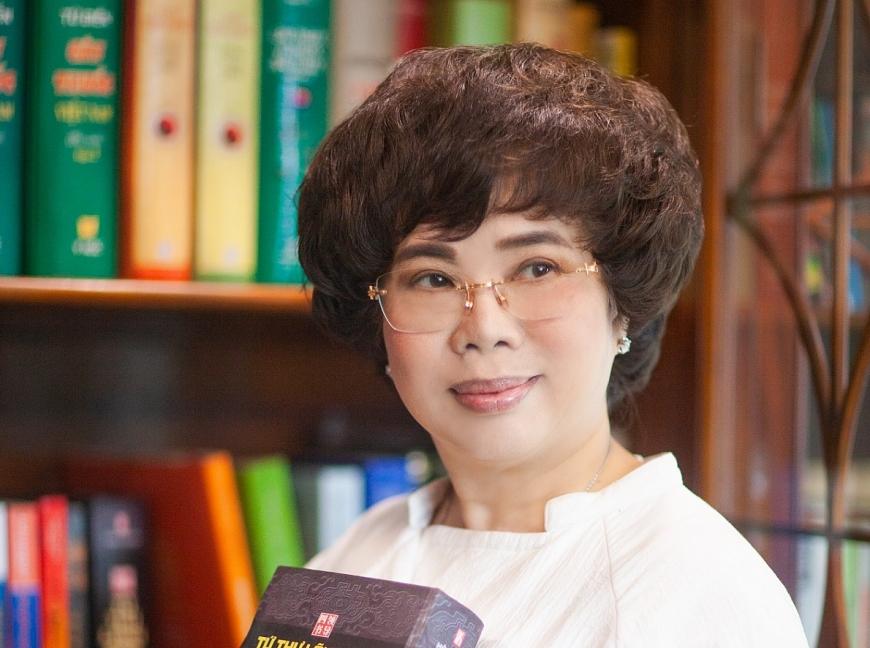 Bà Thái Hương - Chủ tịch Hội đồng Chiến lược Tập đoàn TH được vinh danh Anh hùng Lao động thời kỳ đổi mới.