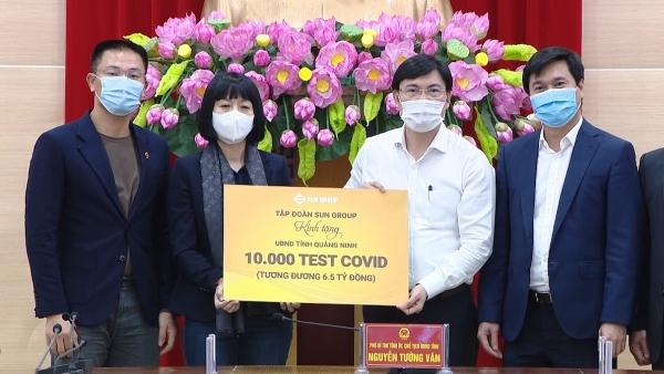 Sun Group trao tặng bộ test xét nghiệm Covid-19 trị giá 6,5 tỷ đồng cho Quảng Ninh