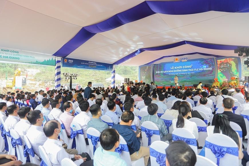 Toàn cảnh Lễ khởi công Khu du lịch nghỉ dưỡng sinh thái FLC Hà Giang