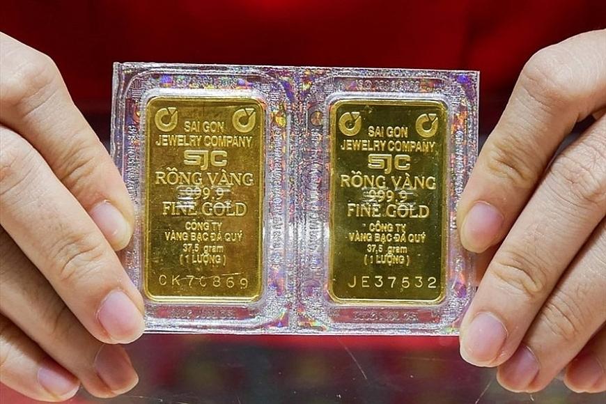 Giá vàng miếng quay đầu giảm cả trăm nghìn đồng/lượng
