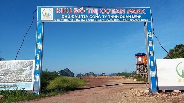 Dự án Ocean Park Vân Đồn do Công ty Quan Minh làm chủ đầu tư bị dừng giao dịch