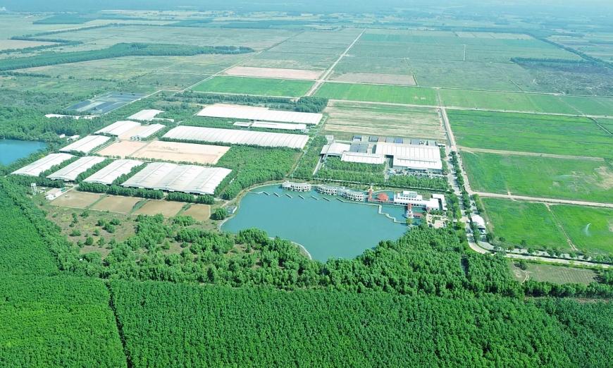 Hệ thống trang trại sinh thái Green Farm mới của Vinamilk có quy mô đàn bò hàng chục ngàn con trên diện tích rộng hàng ngàn hecta