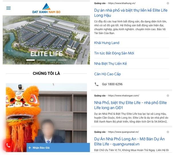 1.Nhiều đơn vị quảng cáo, rao bán và thu tiền khách hàng tại dự án Elite Life mặc dù chưa hoàn thành cơ sở hạ tầng, chưa hoàn thành hồ sơ pháp lý