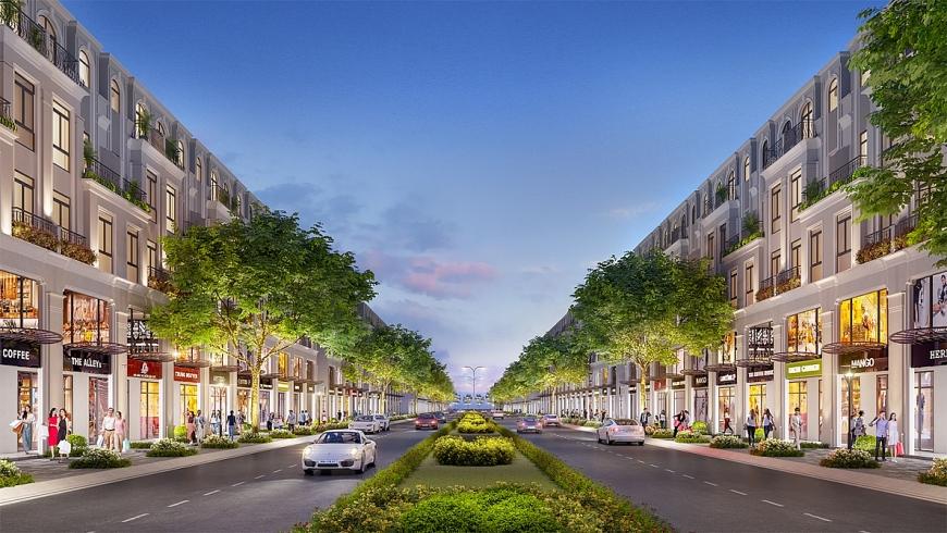 Shophouse Thịnh Vượng là dòng sản phẩm nhà phố hạng sang, đáp ứng chuẩn mực mới của giới thượng lưu.