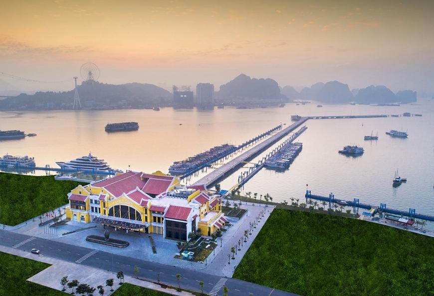 Vịnh du thuyền Sun Marina được phát triển ngay cạnh Cảng tàu khách Quốc tế Hạ Long