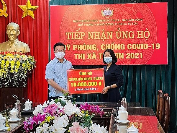 Vietinbank chi nhánh Tiên Sơn ủng hộ quỹ phòng chống COVID-19