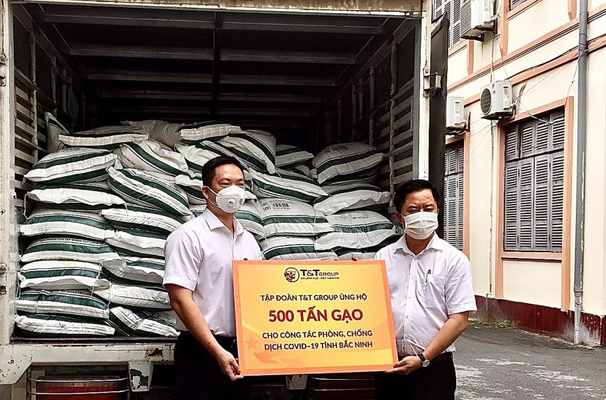 T&T Group ủng hộ 1.000 tấn gạo và 5 tỷ đồng tiếp sức Bắc Ninh, Bắc Giang chống dịch