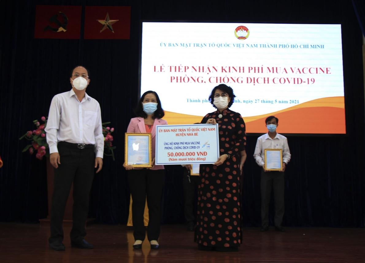 Mặt trận Tổ quốc TP Hồ Chí Minh tiếp nhận hơn 2.077 tỷ đồng mua Vaccine phòng, chống dịch Covid-19