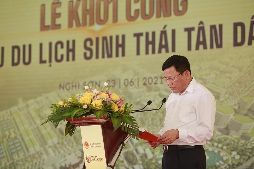 Ông Nguyễn Văn Thi, Ủy viên Ban Thường vụ Tỉnh ủy, Phó Chủ tịch UBND tỉnh Thanh Hóa phát biểu tại sự kiện