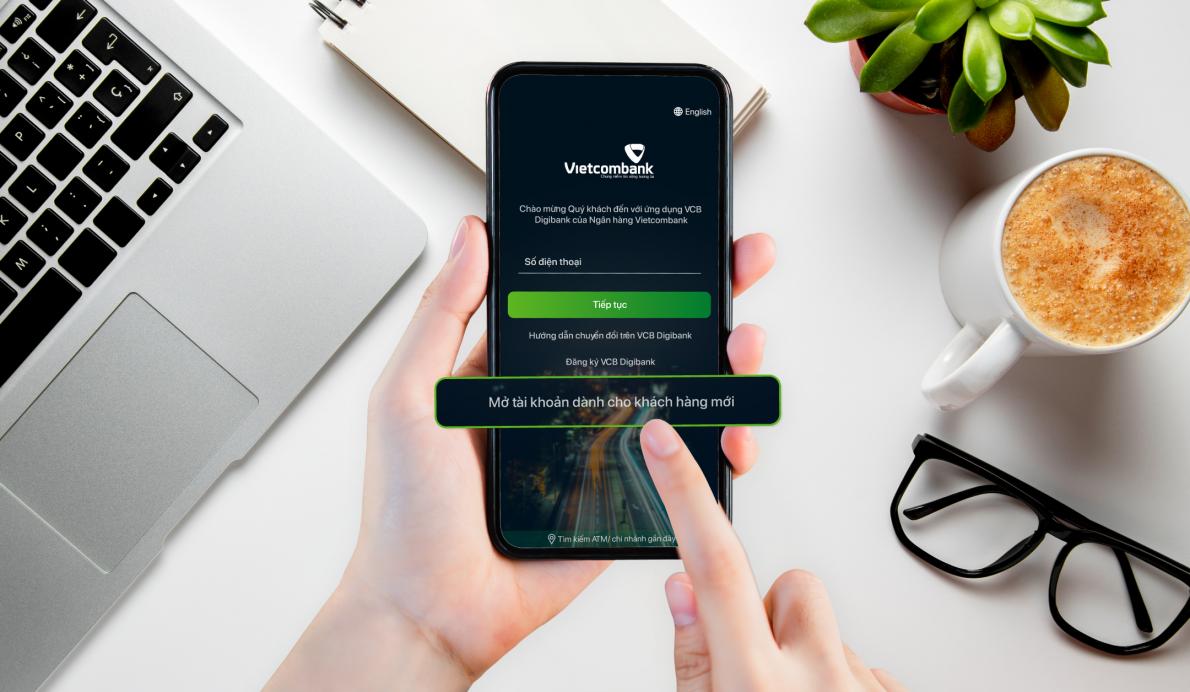 Vietcombank ra mắt dịch vụ mở tài khoản trực tuyến xác thực bằng eKYC