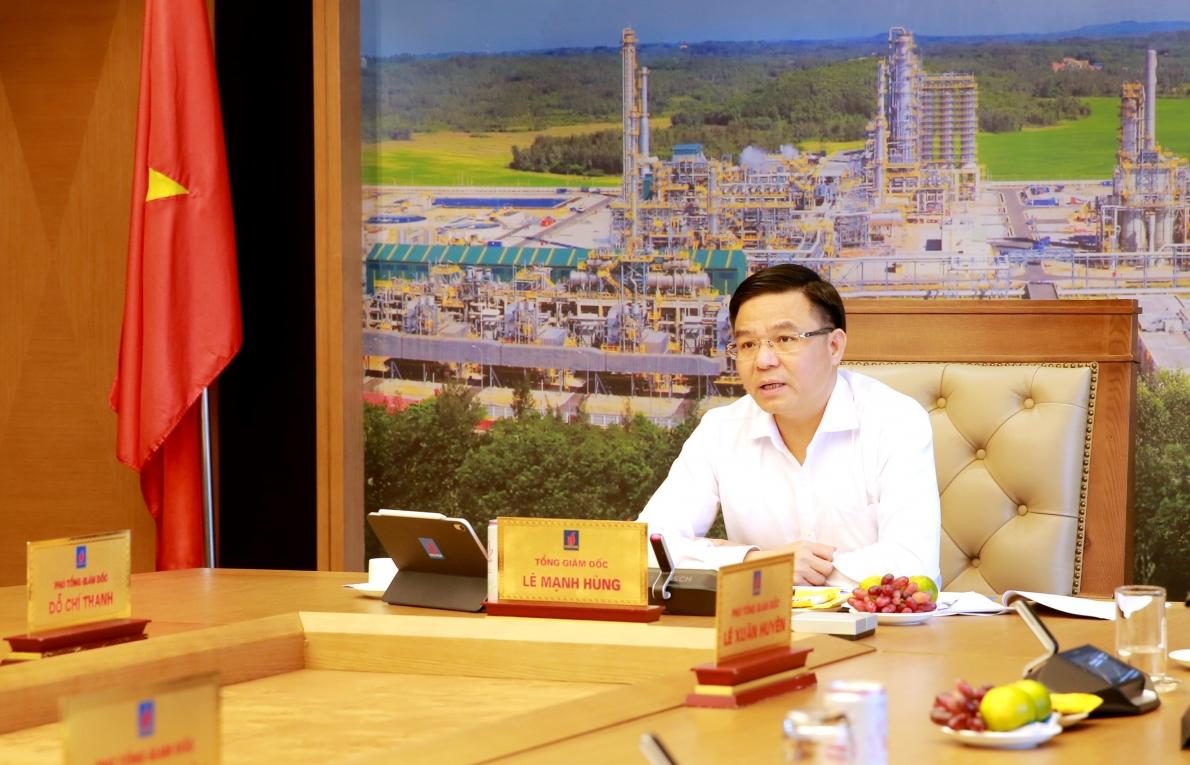 Tổng giám đốc Lê Mạnh Hùng phát biểu kết luận cuộc họp