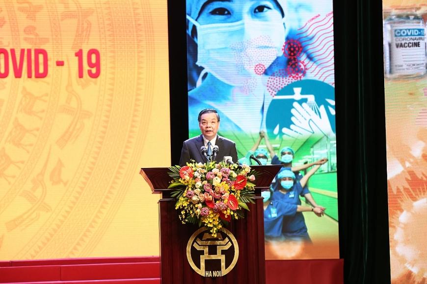 Ông Chu Ngọc Anh - Chủ tịch UBND thành phố Hà Nội phát biểu