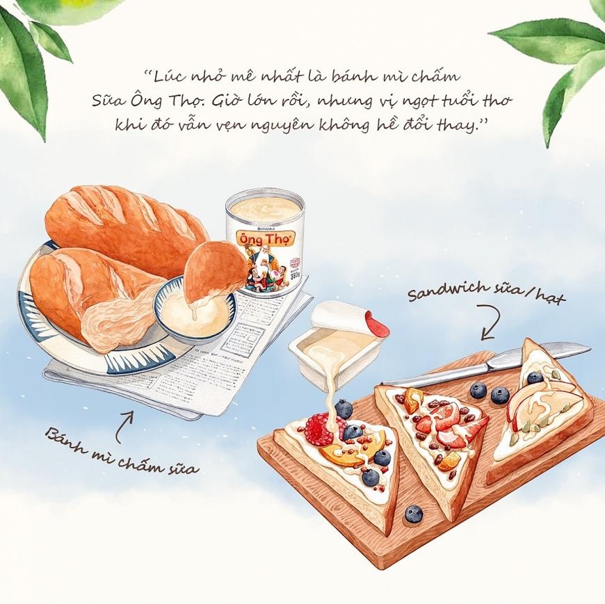 Sữa đặc Ông Thọ là nguyên liệu không thể thiếu trong các món ăn ngon và quen thuộc với người Việt mọi lứa tuổi