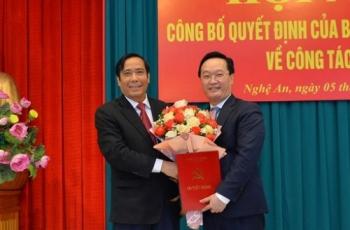 Thứ trưởng Bộ Kế hoạch và Đầu tư giữ chức Phó Bí thư Tỉnh ủy Nghệ An