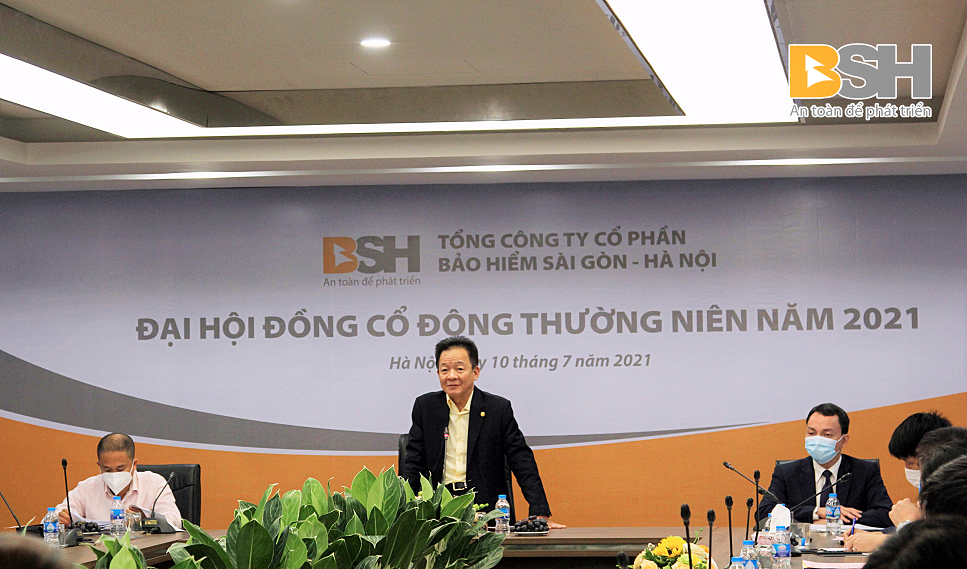 Ông Đỗ Quang Hiển – Chủ tịch HĐQT BSH phát biểu tại Đại hội cổ đông thường niên 2021