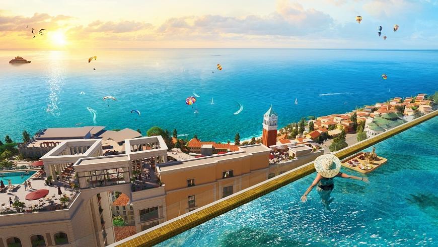 Bể bơi vô cực có tầm nhìn hoàn hảo tại các tòa cao ốc The Hill