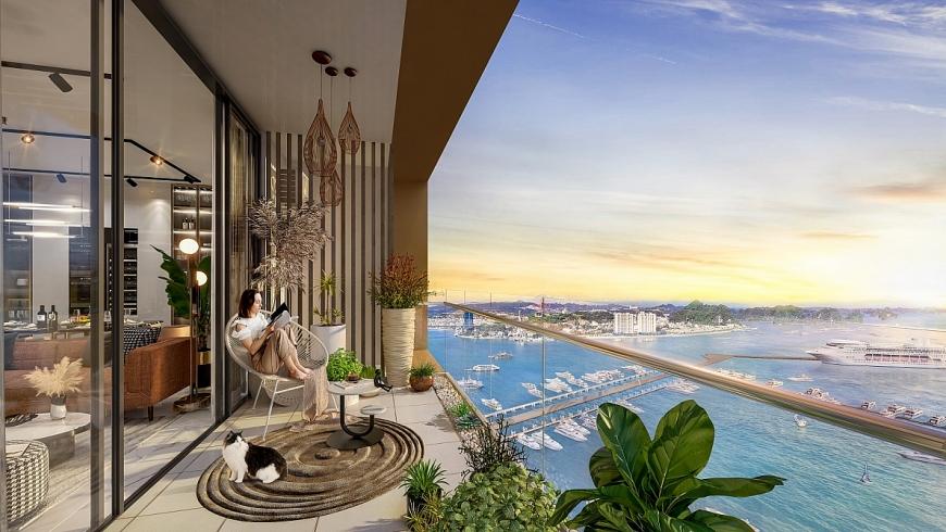 View từ ban công căn hộ The Platinum (Ảnh minh họa)
