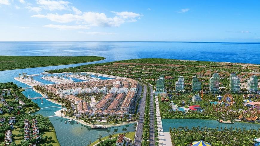 Sông Đơ tại Sầm Sơn sẽ được cải tạo và hồi sinh với dự án khu đô thị sinh thái nghỉ dưỡng ven sông của Sun Group. Ảnh phối cảnh minh họa.
