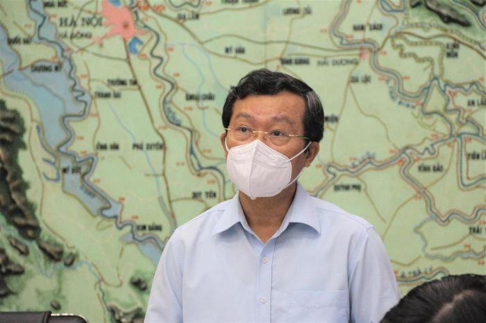 Ông Nguyễn Văn Tiến – Phó Tổng cục trưởng Tổng cục PCTT phát biểu tổng kết cuộc họp.