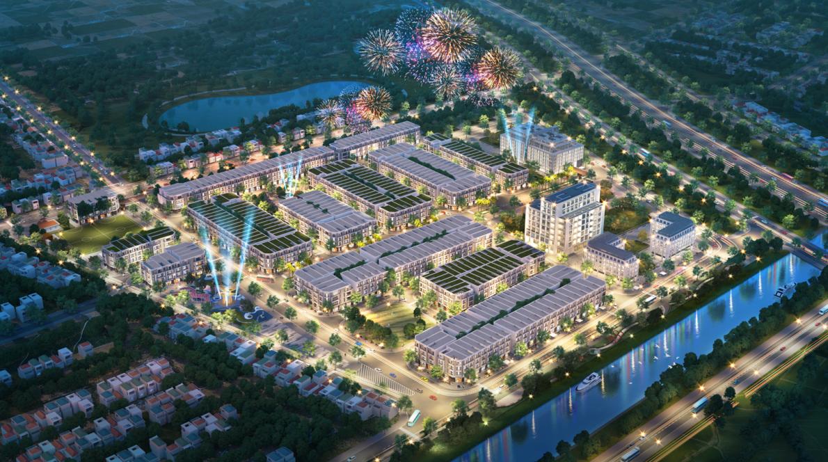 Dự án Khu đô thị thương mại dịch vụ do TNR Holdings Vietnam (thành viên Tập đoàn TNG Holdings Vietnam) đầu tư tại trung tâm thị trấn Lam Sơn
